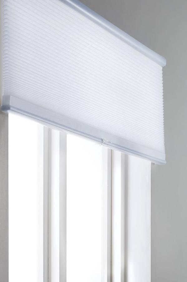 Bilde av ALVA plisségardin - lysdempende - Hvit 90X160 cm