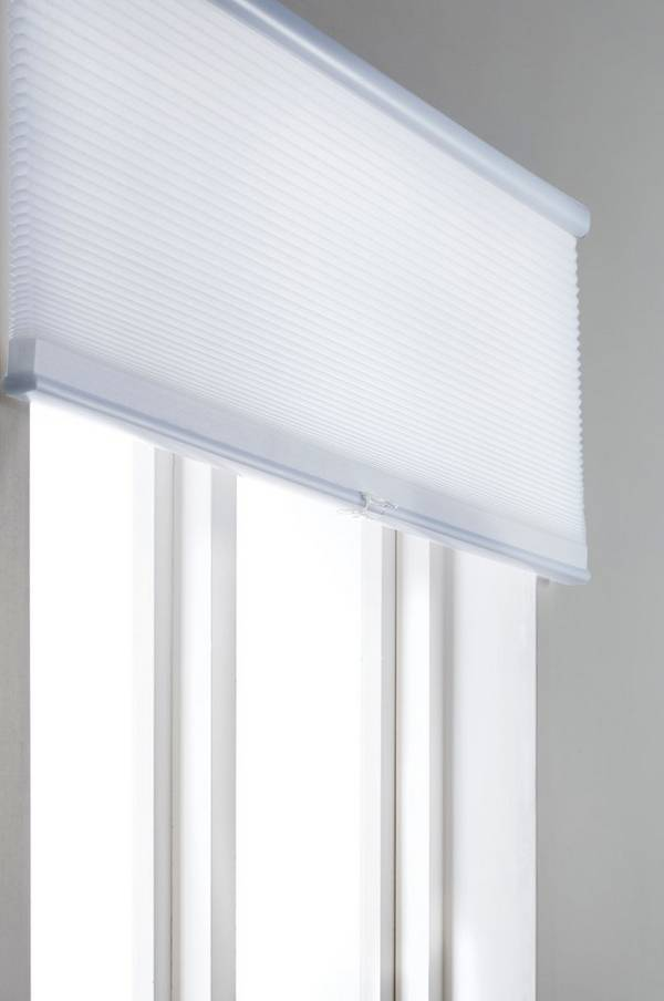 Bilde av ALVA plisségardin - lysdempende - Hvit 120X160 cm