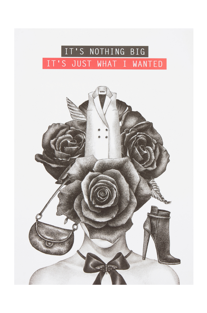 WHAT I WANTED poster 50×70 cm
