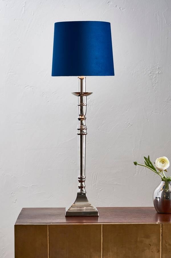 Bilde av ARIEL bordlampe - høy - Krom/blå