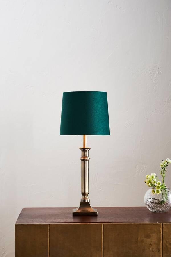 Bilde av ARIEL bordlampe - lav - Antik mässing/grön
