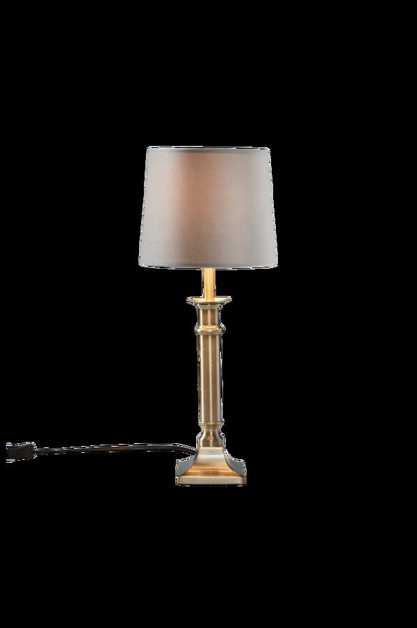 Bilde av ARIEL bordlampe - lav - Antik mässing/ljusgrå