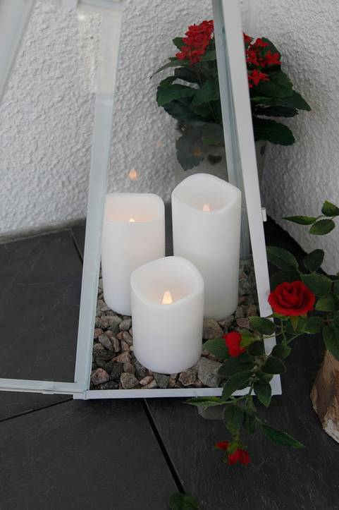 PETE blockljus LED höjd 7,5 cm