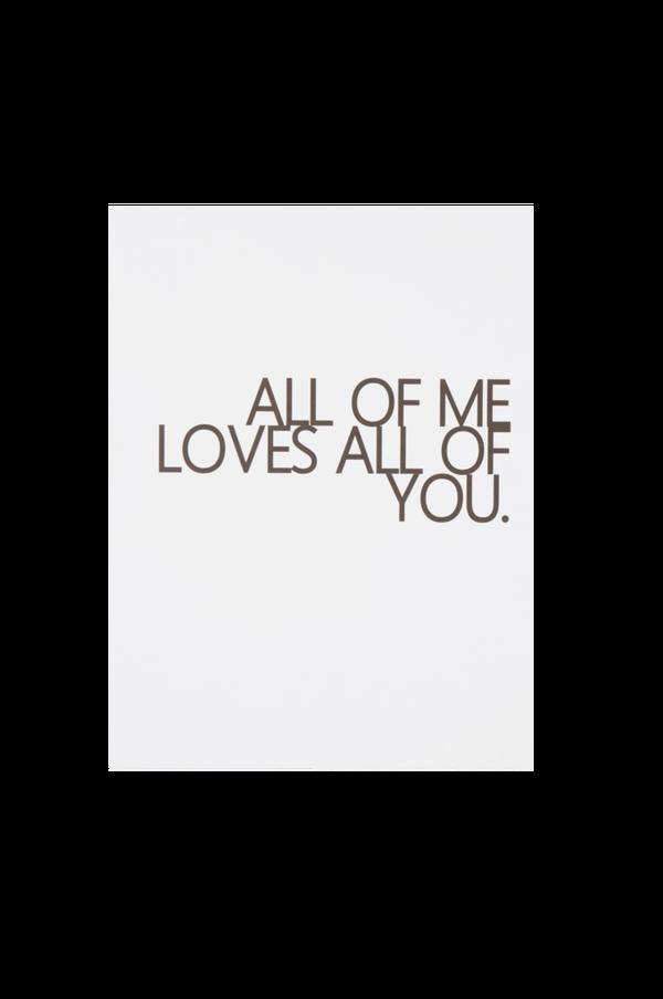 Bilde av ALL OF YOU poster 30x40 cm - Hvit