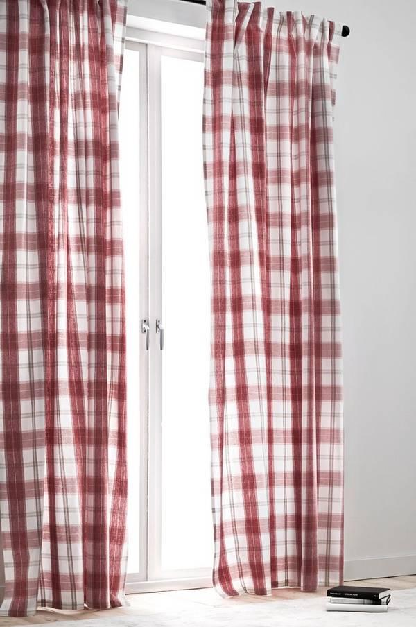 Bilde av BETTINA gardiner med multifunksjonsbånd 2-pk - økologisk - 30151