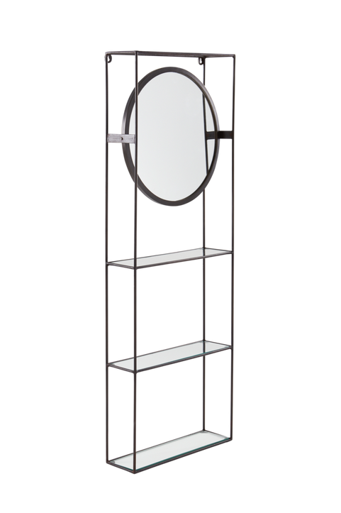 MANNE vägghylla/spegel