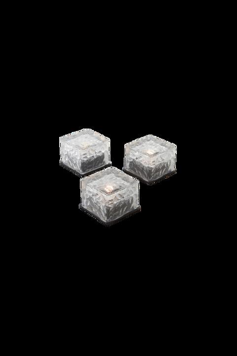 ICE CUBES dekorationsljus 3-pack solcell