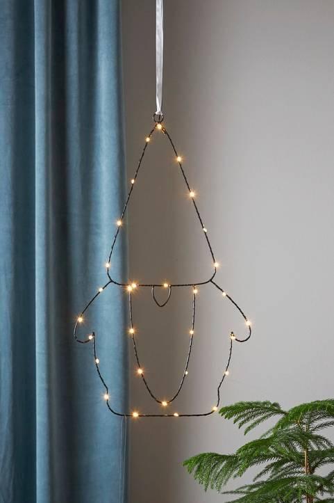 SANTA hängande ljusdekoration LED