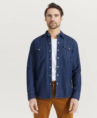 Levi's Skjorta Western Blå