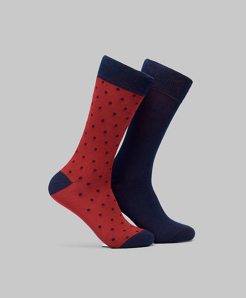 2-pack Solid and Dot Socks