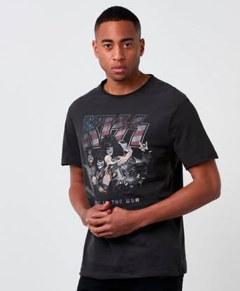 Bilde av Amplified T-shirt Kiss Made In Usa Svart