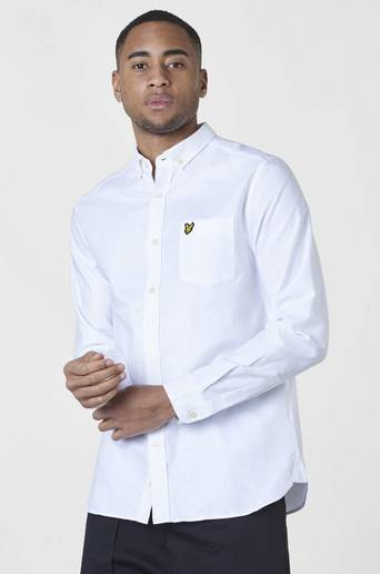 Lyle & Scott Oxfordshirt Vit