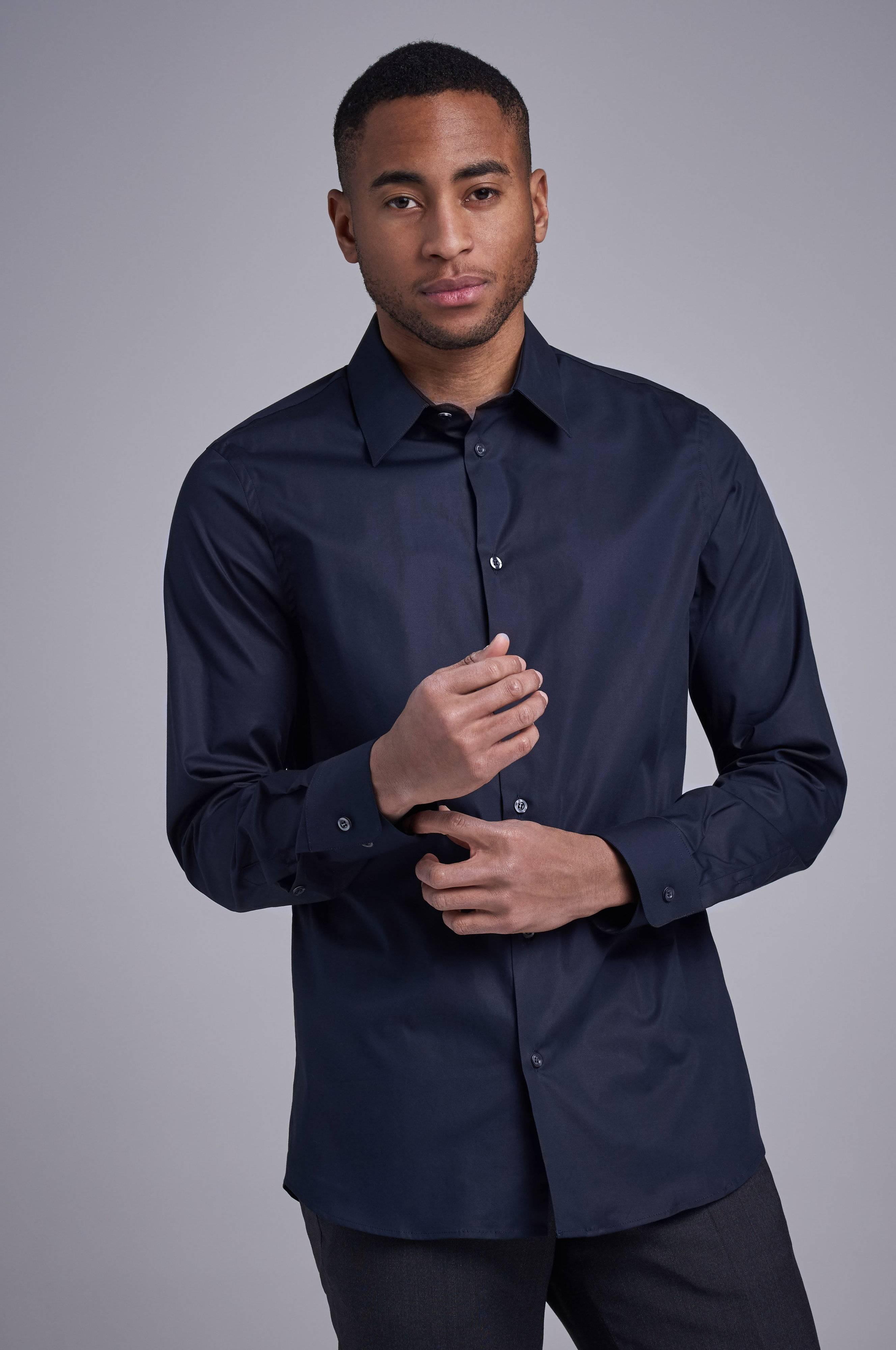 Filippa K James Stretch Shirt Blå