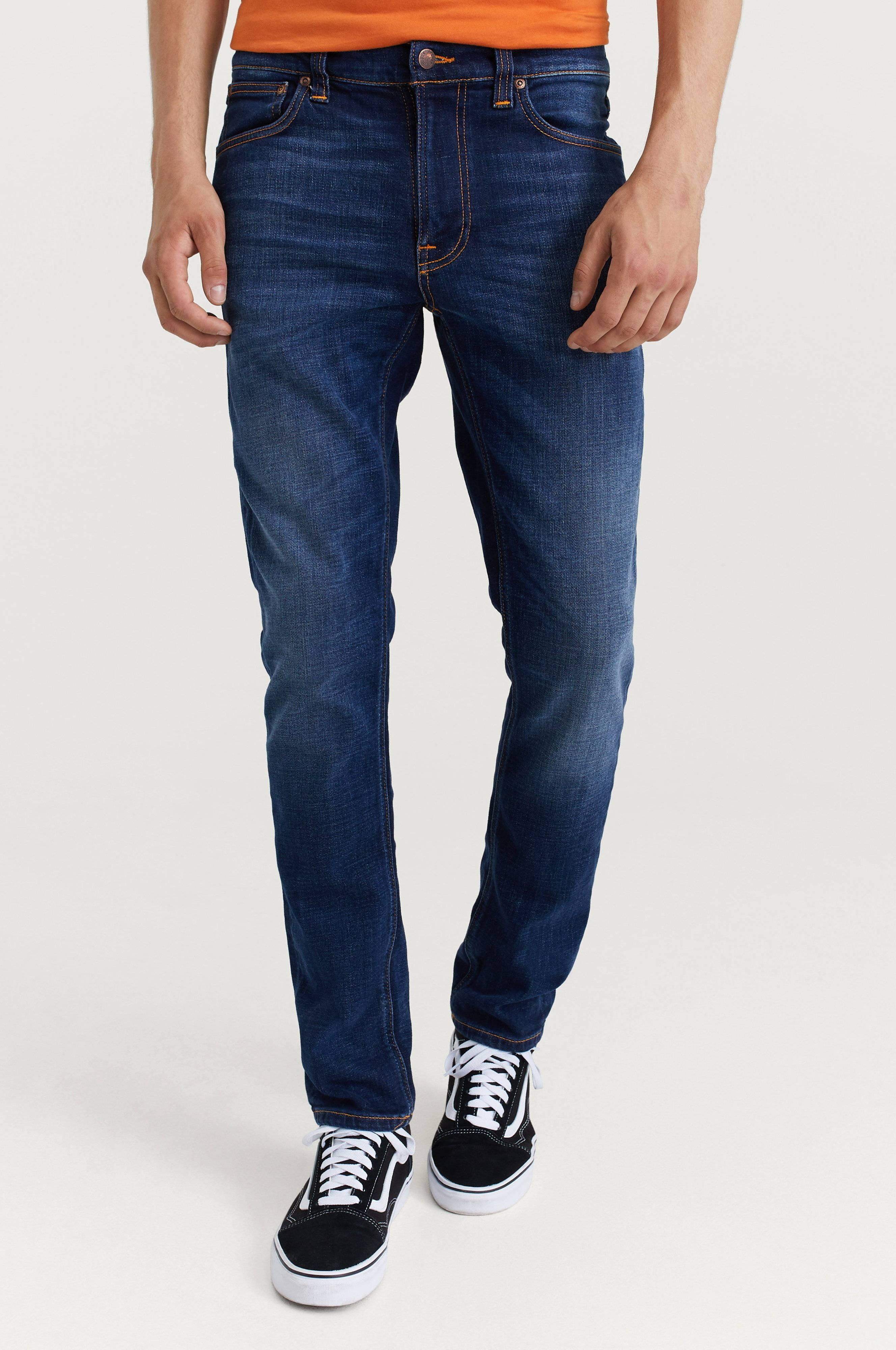 Nudie Jeans Lean Dean Dark Deep Worn Jeans Blue