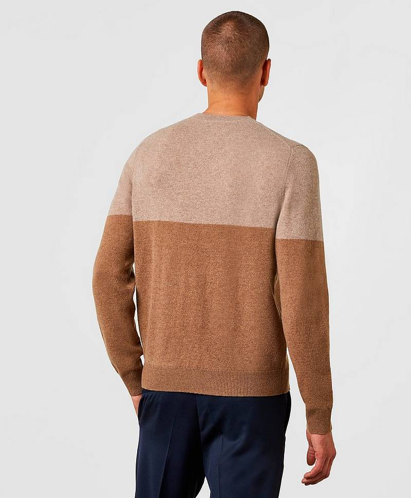 Wool Colour Block Sweater