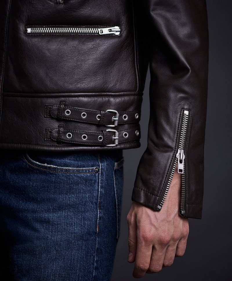 Jakke Biker Leather Jacket