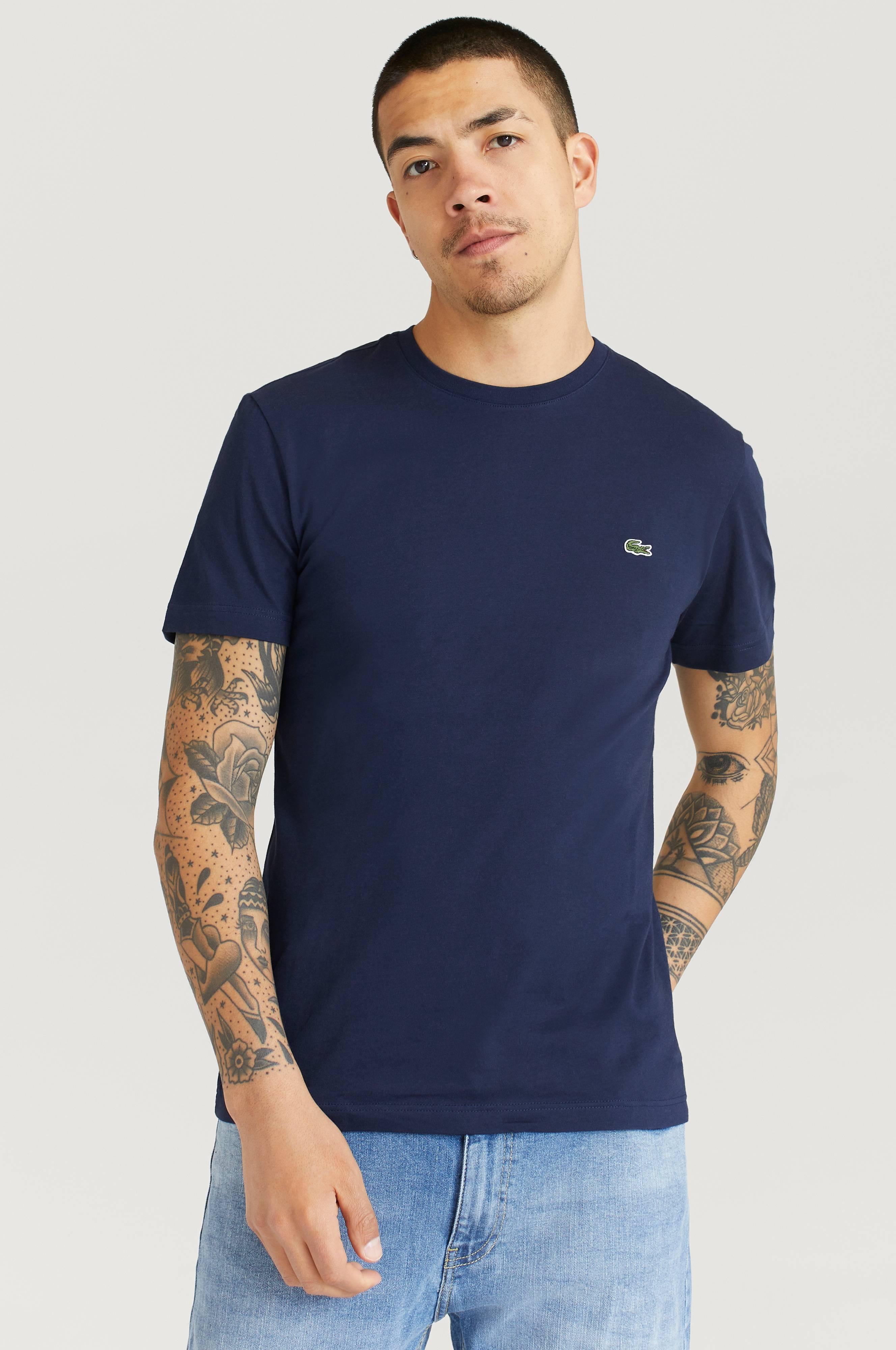 Lacoste T-Shirt Ras Du Cou Manc T-shirts & linnen Navy