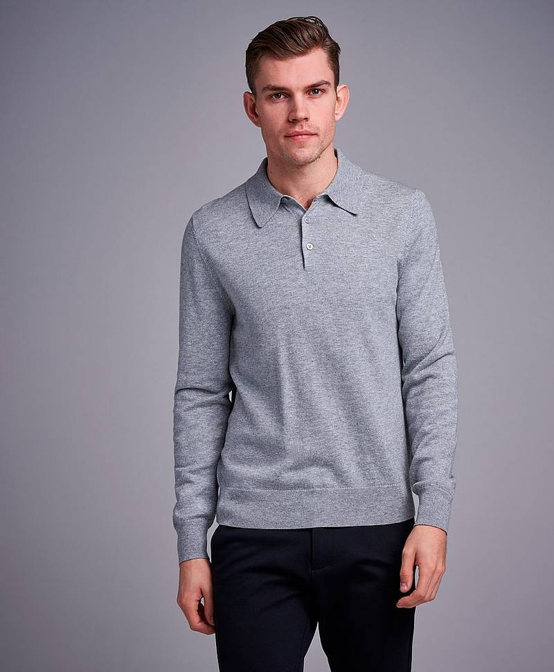 Cotton Merino Knitted Poloshirt