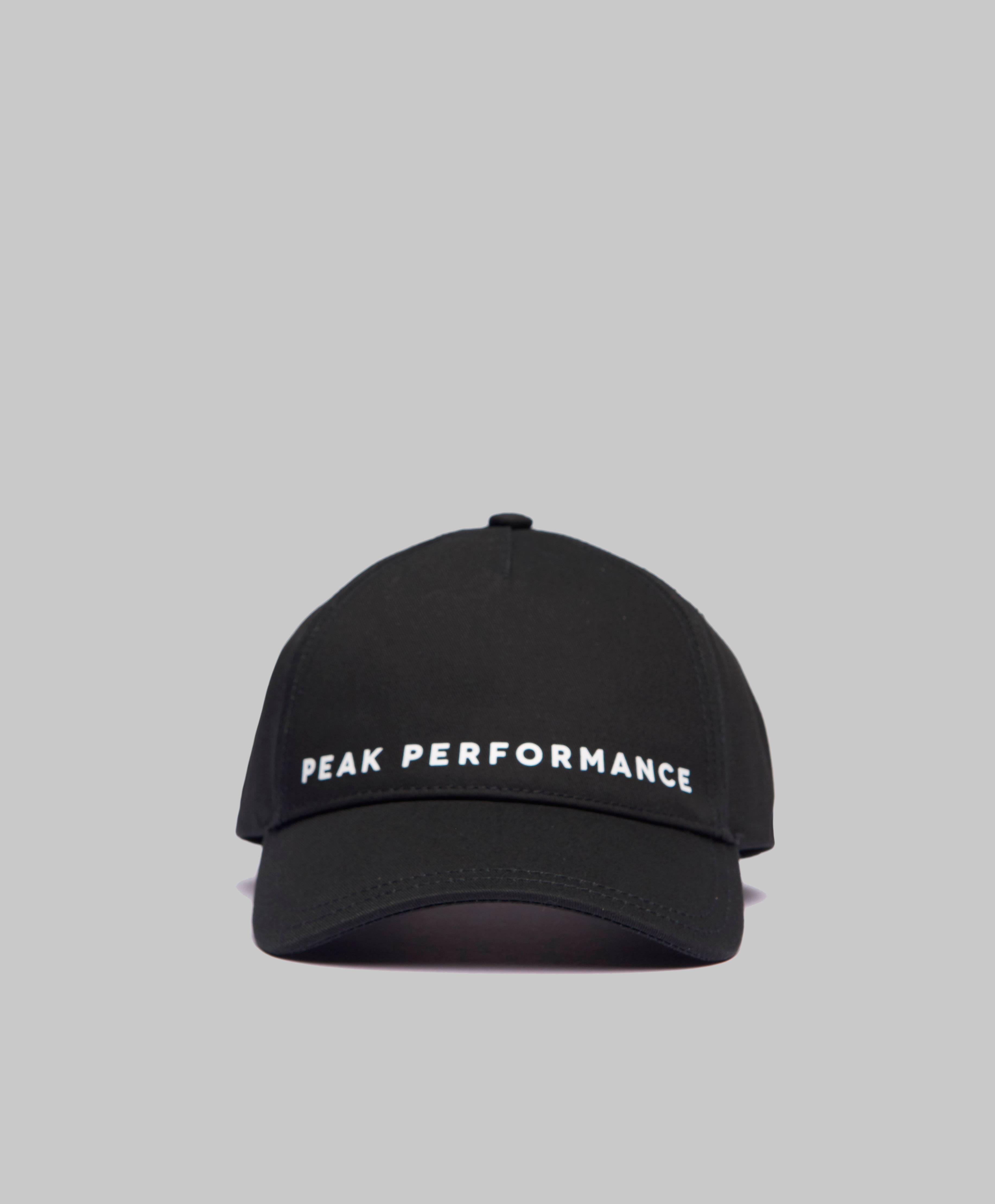 Peak Performance Caps Logo Cap Chinese red Svart