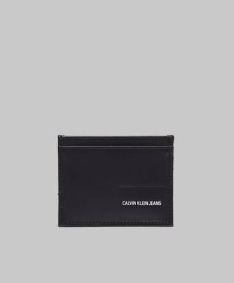 Calvin Klein Coated Canvas Card Case Svart