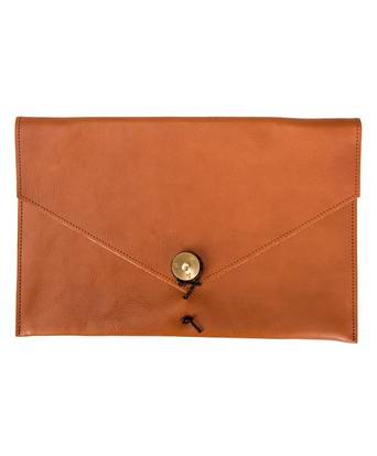 """P.A.P Kungsten Leather Laptop Cover 12"""" Brun"""