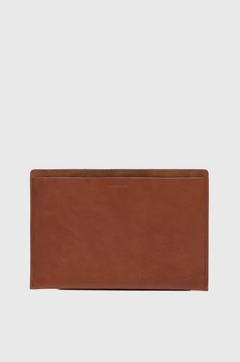 """P.A.P Plånbok Mark Laptop Case 15"""" Leather/Suede Brun"""