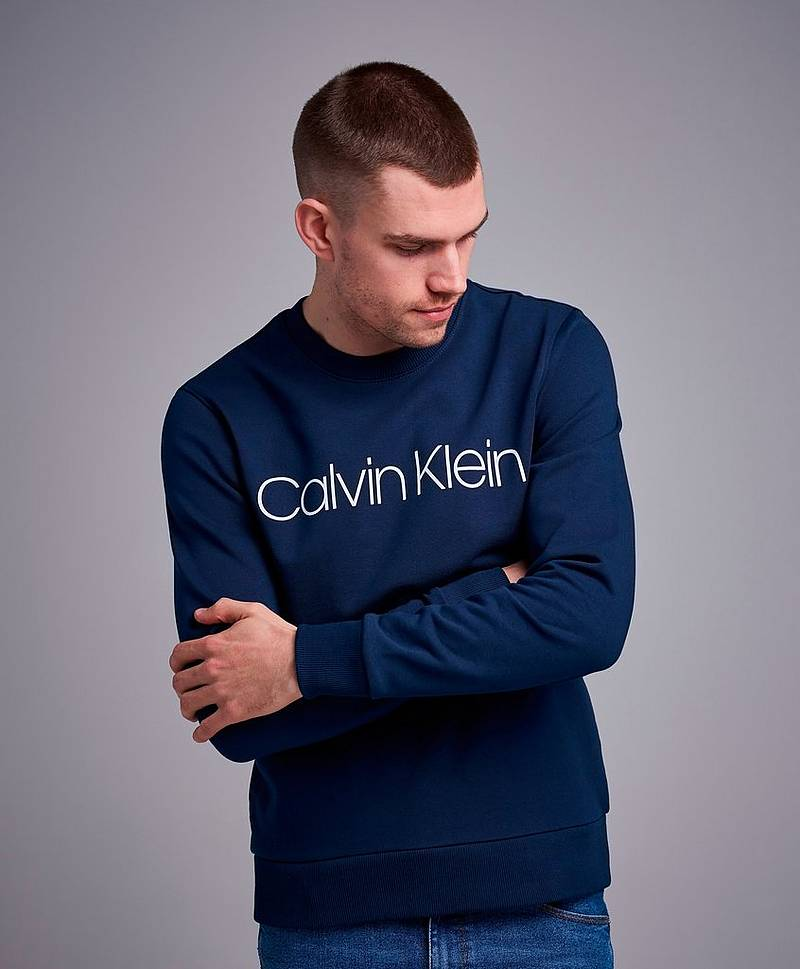 Sweatshirt Cotton Front Logo Sweatshirt