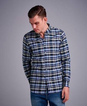 Tommy Hilfiger Skjorta Slim Multi Check Shirt Blå