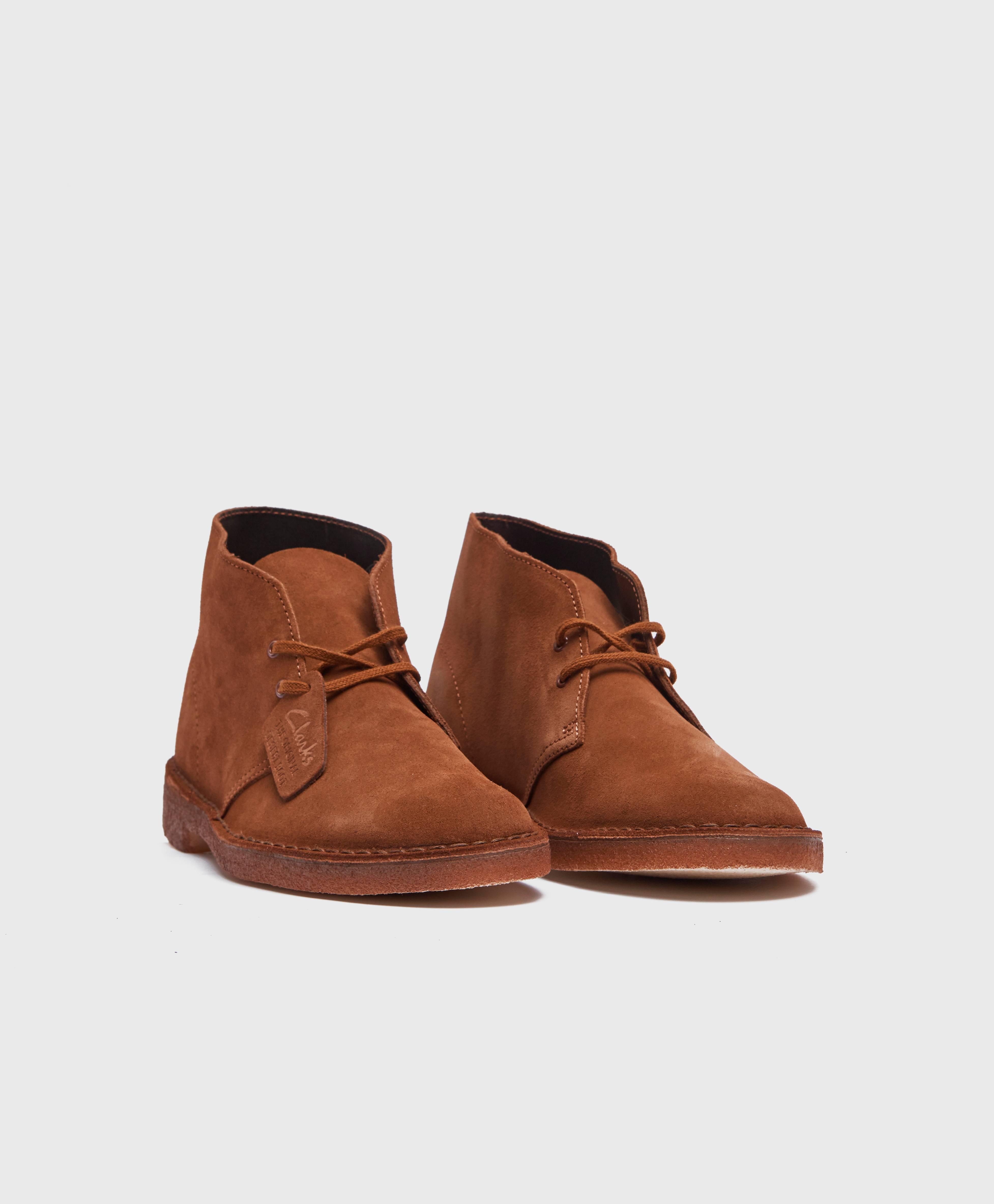 Clarks Originals Boots Desert Boot Suede Svart Sko