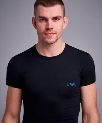 Bilde av Armani T-shirt 2-pack Monogram T-shirt Slim Fit Svart