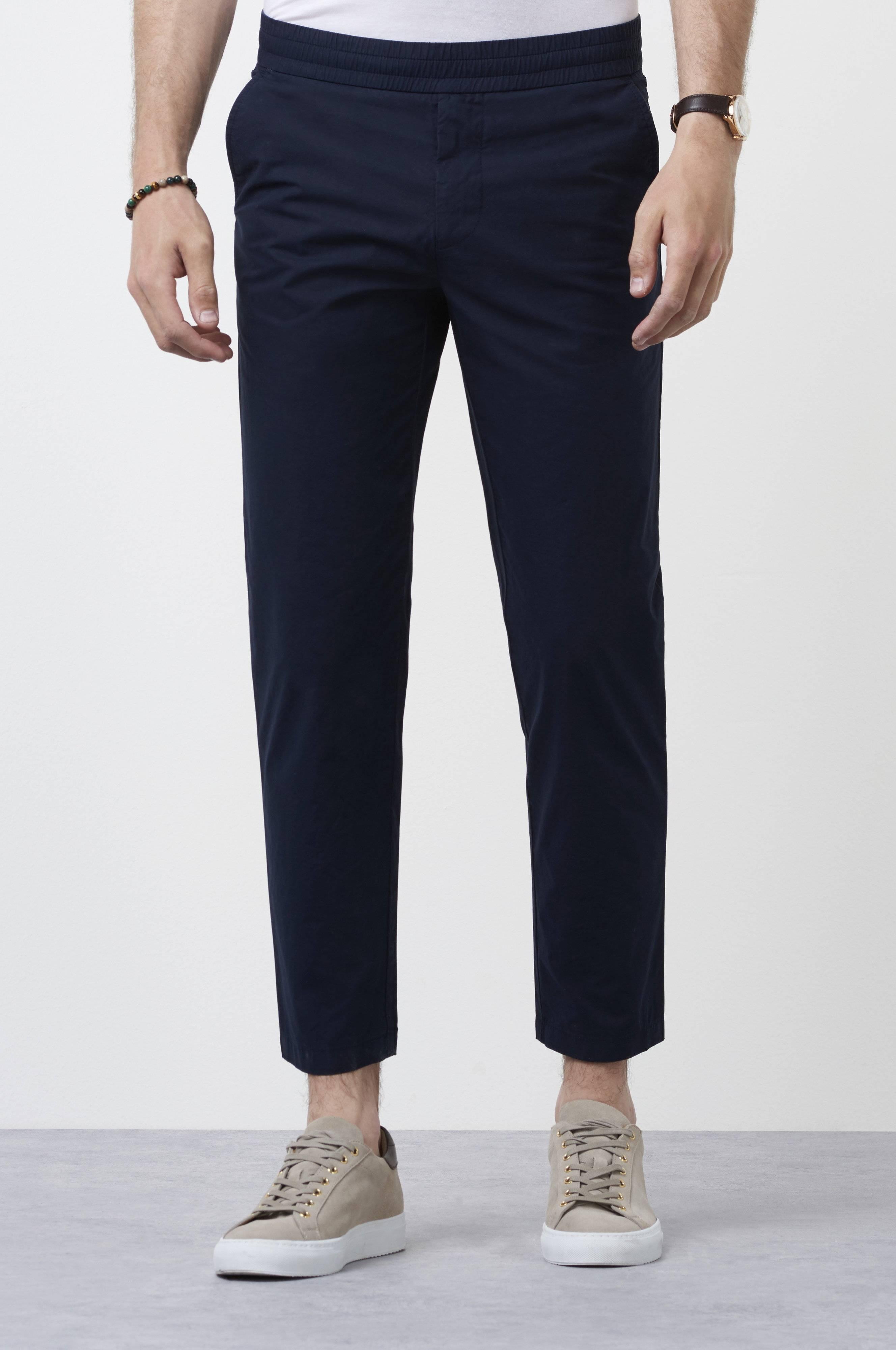 Filippa K Terry Cropped Pants Blå