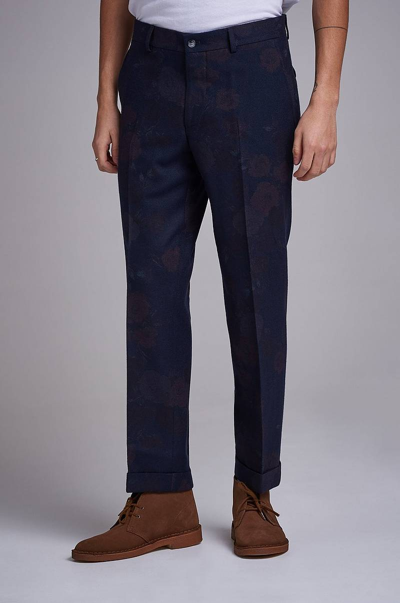 Cropped Flannel Trouser Floral