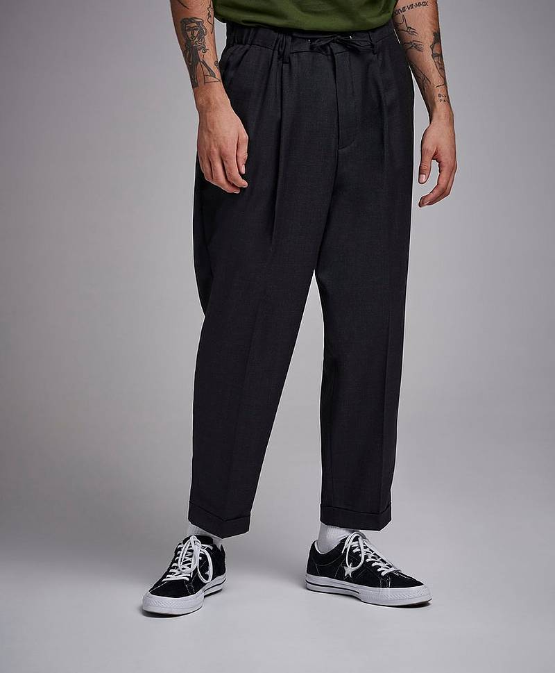 Drop Crotch Drawstring Trousers