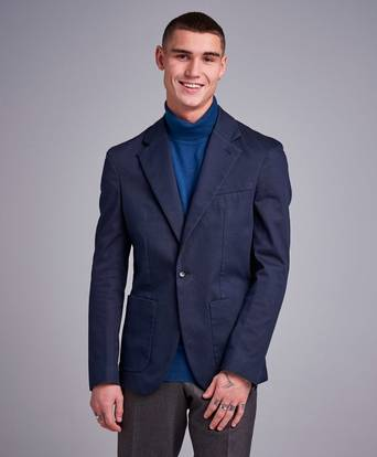 Filippa K Kavaj Dean Cotton Suit Jacket Blå