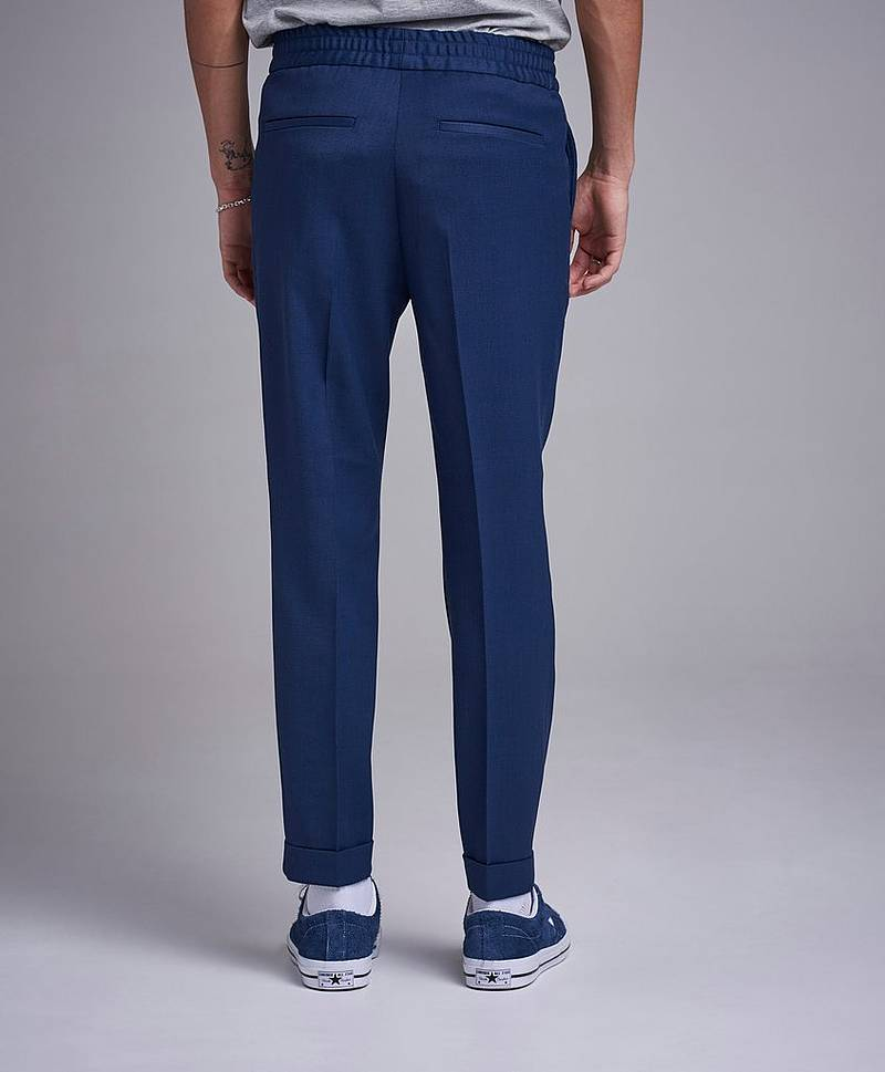 Terry Gabardine Cropped Trouser