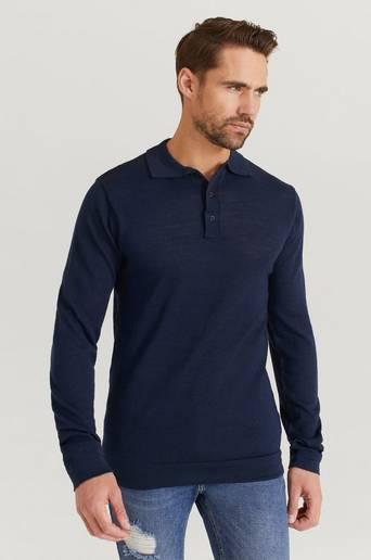 Studio Total Stickad tröja Finch Knitted Shirt Blå