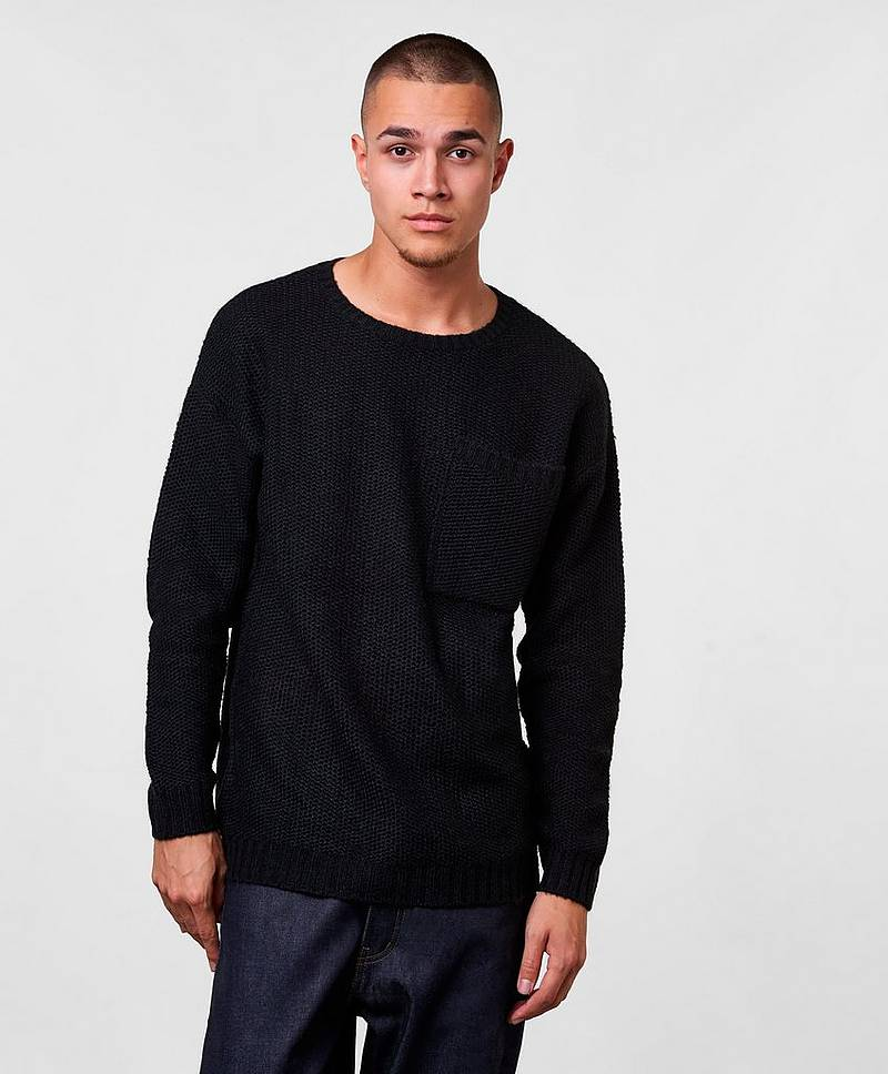 Strikket genser Bill Big Pocket Jumper