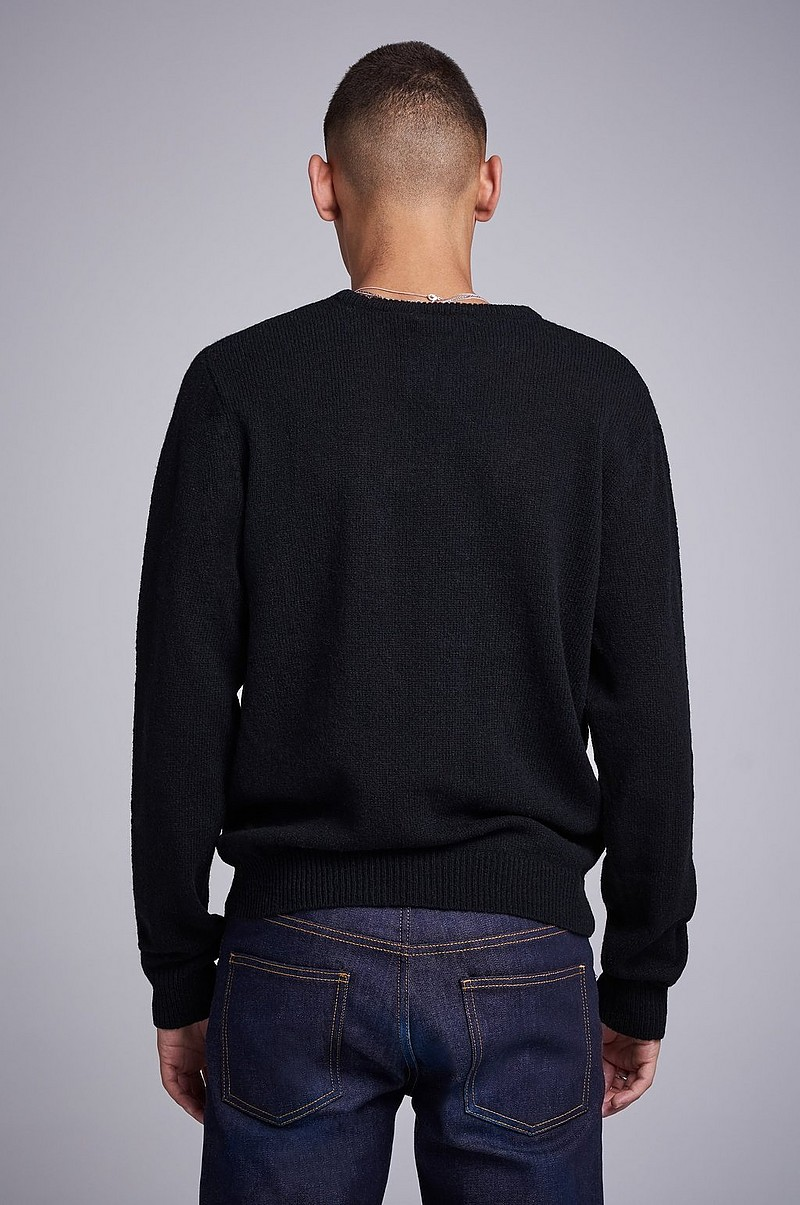 Strikket genser Garret Knitted Wool Crewneck