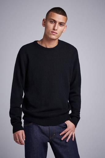 Studio Total Stickad tröja Garret Knitted Wool Crewneck Svart