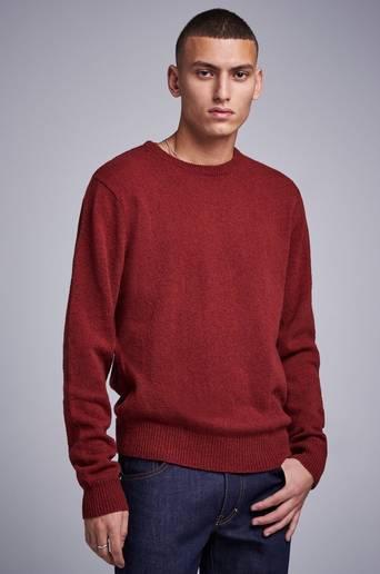 Studio Total Stickad tröja Garret Knitted Wool Crewneck Röd