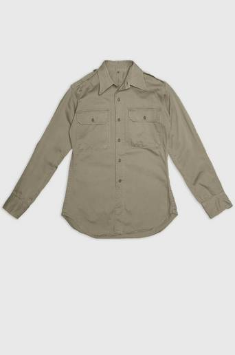 Vintage by Stayhard US Officer Shirt Grön