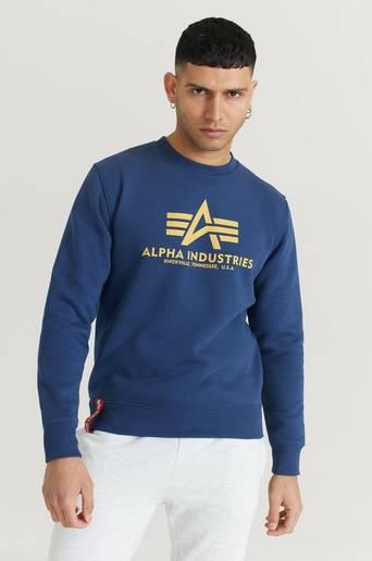Alpha Industries Sweatshirt Basic Sweater Blå  Male Blå