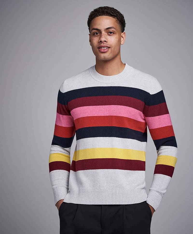 CoWo Stripe High Crewneck