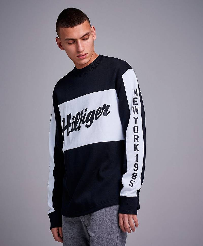 Oversized Rib Hockey Sweatshirt