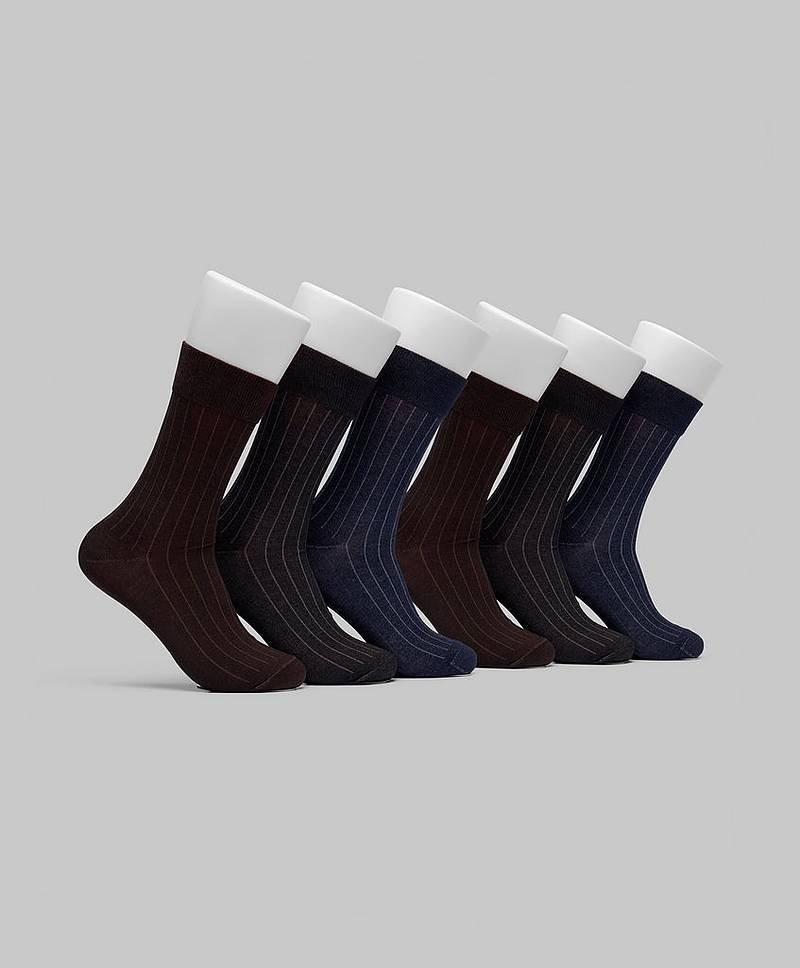 6-pack Mercerized Cotton Socks