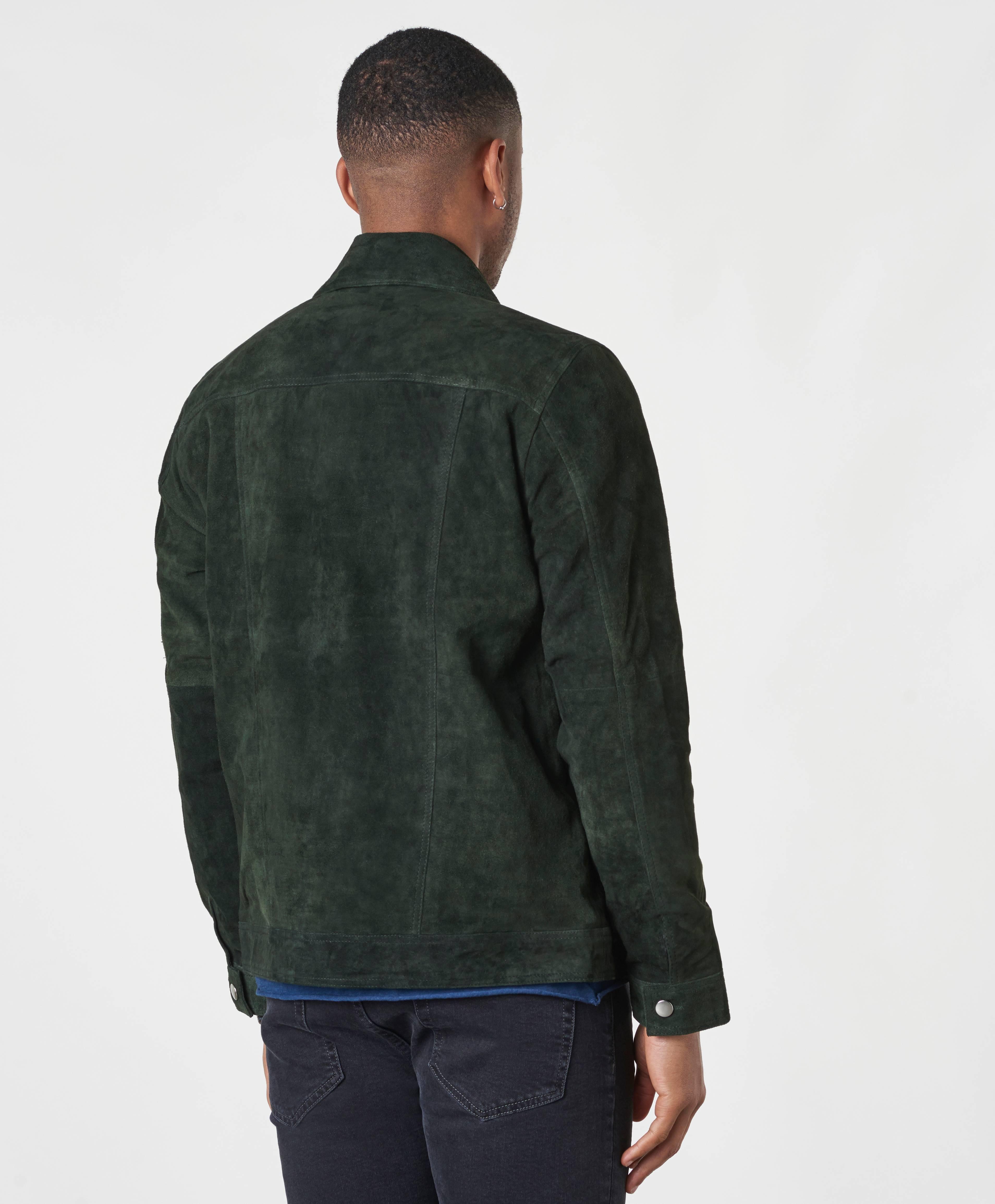 William Strouch Jakke Suede Jacket Grøn Tøj Stayhard.dk