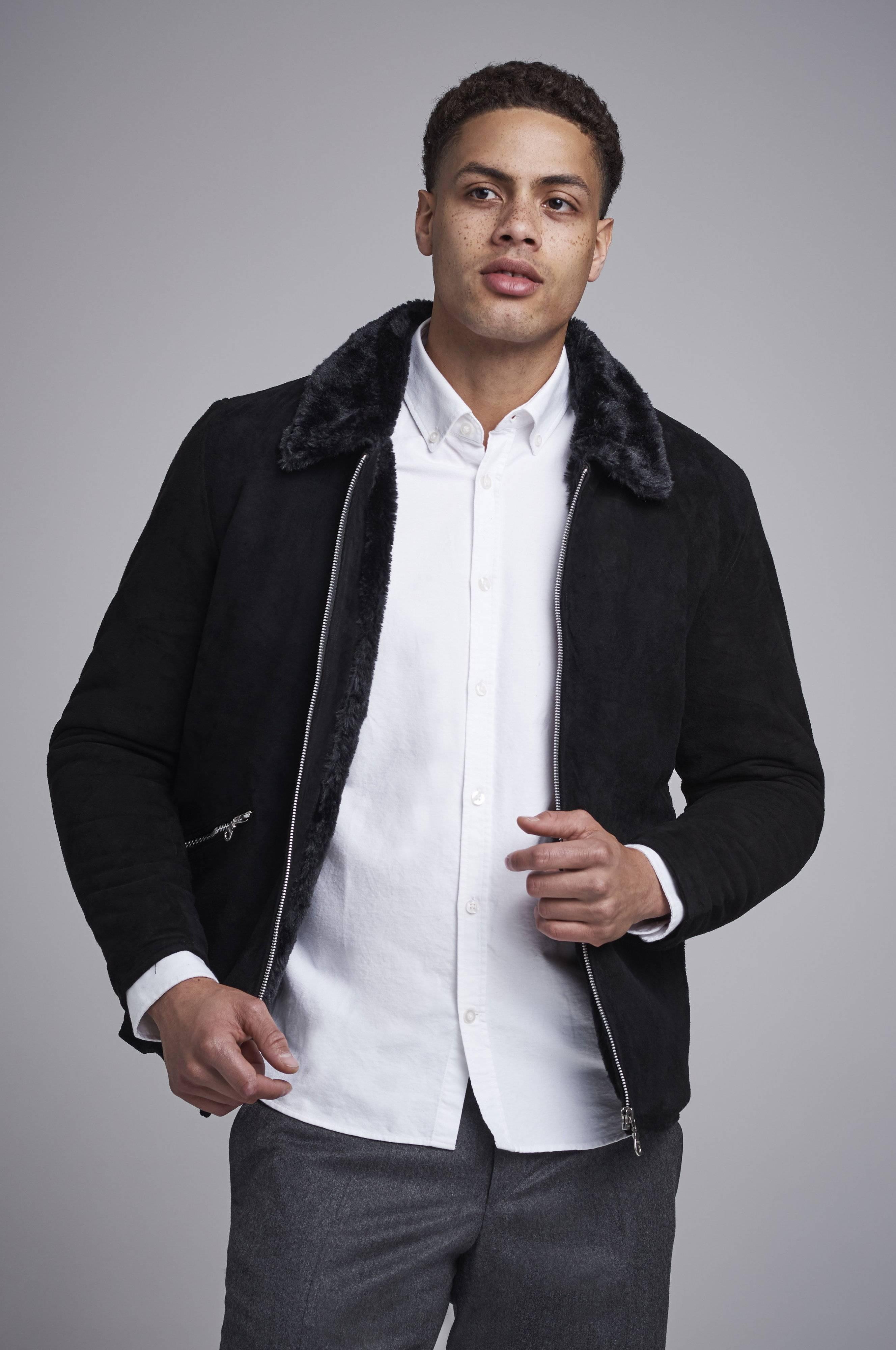 William Strouch Fur Jacket Svart