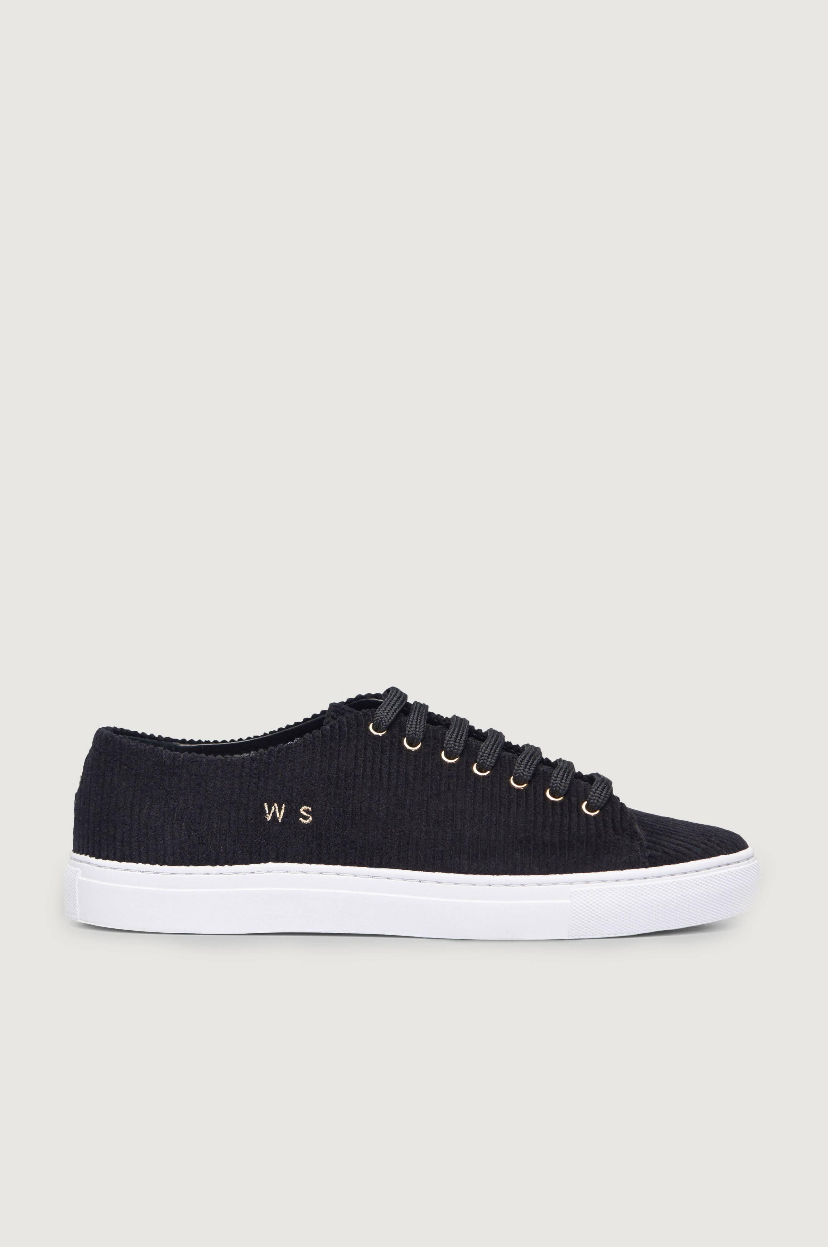 William Strouch Courduroy Sneaker Svart