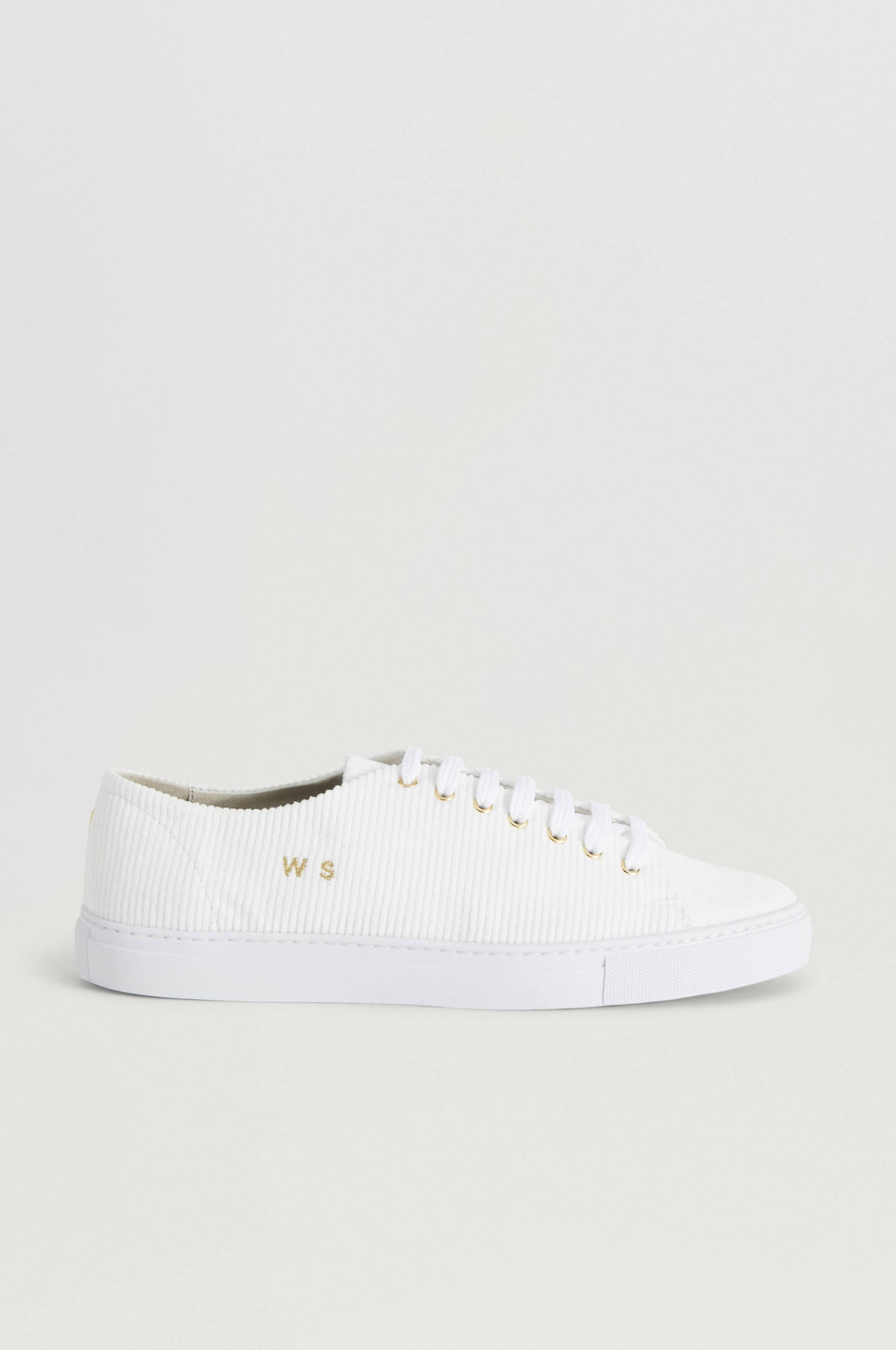 William Strouch Courduroy Sneaker Vit