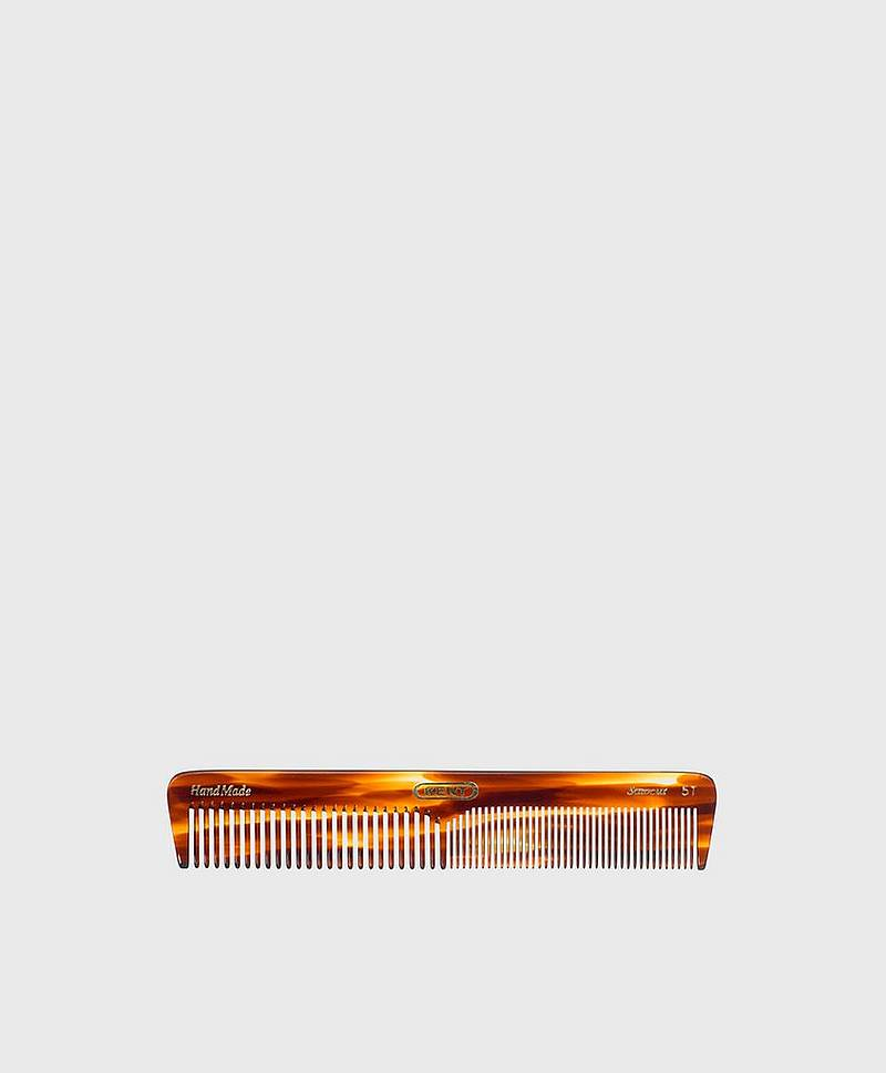 Long Medium Sized Dressing Table Comb Fine/Coarse - Handmade